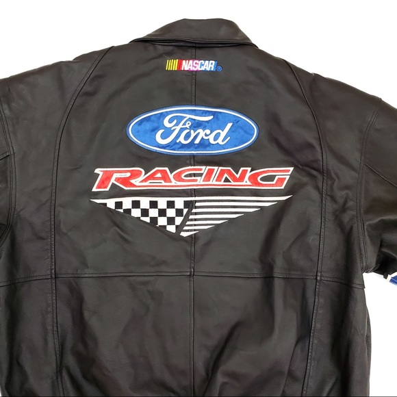 essex Other - 🔥Ford Racing Genuine Leather Bomber Coat